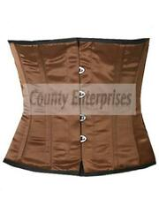 COMPLETO In acciaio steccato Shaper Vestaglia Cincher Taillen Girovita Slimming Marrone corsetto in Satin