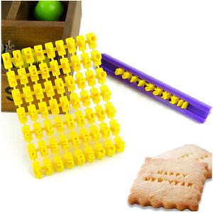 Alphabet Number Letter Cookie Biscuit Stamp Cutter Mold Embosser Cake Mould UK