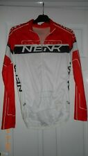 MENS CYCLING JERSEY - NENK SPORTS - M - LONG SLEEVES - WHITE/BLACK/RED