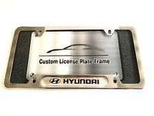 License Plate Frame for HYUNDAI Chrome Genesis Sonata Veloster Accent Santa Fe