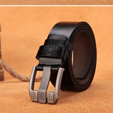 "New Men's Genuine Leather Belt Fashion Black/Brown W28""-50"" Super Long 100-130cm"