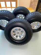 HPI Savage XL 5.9 Terra Pin tires and wheels one set.