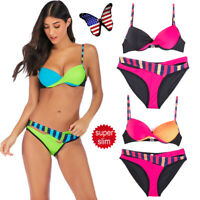 2019 Women Bikini Set Push-up Padded Bra Swimsuit Swimwear Triangle Bathing Suit