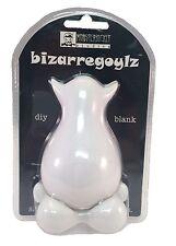 "Bizarregoylz Blank DIY Do-It-Yourself White 4"" Vinyl Toy Creative DIY Figure New"
