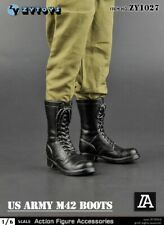 ZYTOYS Zy1027b 1/6 US Soldier Figure M42 Combat BOOTS Shoes Model Hollow Inside
