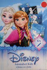 Disney Frozen  * Mal-Set * 4 Bilder & 6 Stifte * Neu / OVP