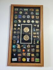 Vintage ducks unlimited pin collection. Framed.