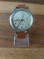 Seagull 1963 38mm chronograph Sapphire, Display Back, 2 straps BNIB *UK SELLER*