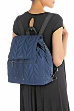 Kate Spade Large Flap Backpack Ellie Nightcap Quilted Nylon Blue $299 New Tags