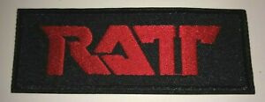 """RATT~80's Rock~Hair Band Legends~Embroidered Patch~Iron or Sew~4 1/8"""" x 1 1/2"""""""