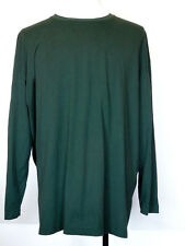 Weatherproof Long Sleeve Dark Green Poly/Cotton Layering Crewneck T-Shirt XXXL