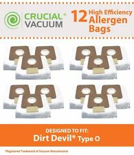 12 REPL Dirt Devil Type O Replacement Allergen Bags Part # AD10030 304235002