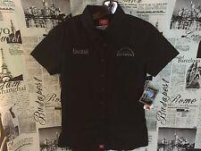 CANON Bexel Utopia Camera Short Sleeve Polo Shirt Button Down Women Large L Top