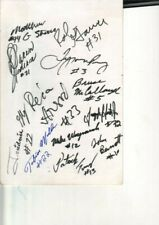 1995 Delaware Fightin' Blue Hens Autographed Page by 13 College Basketball