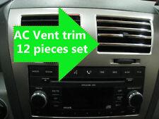 12pcs Chrome Interior Dash AC VENT TRIM Molding Kit for kiHC1