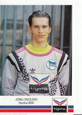 Jörg Neuling Hertha BSC Berlin 1991-92 TOP AK +A44027 OU