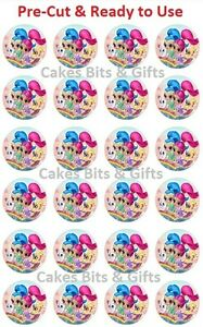 24 x SHIMMER & SHINE Edible Wafer Cupcake Toppers PreCut Ready to Use GENIES