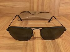 VTG!🔥 1950's Ray Ban Caravan Aviators Black Chrome 52mm Bausch & Lomb USA Rare!