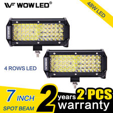 Pair 48W LED Spotlight Work Light Lamp Offroad Car Truck Jeep 4WD ATV 12V 24V