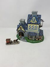 PartyLite Olde World Village Candle Shoppe Holder P7315 W/box Discontinued Rare