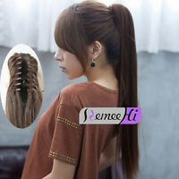 """15""""-30"""" Remy human hair extensions Claw Clip Ponytail many color & length option"""
