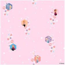 Disney Frozen 10 M Papier Peint Rouleaux-rose clair (FR3003-2) NEUF