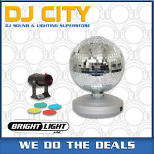 Brightlight Disco Ball Set 8 Inch Mirrorball Kit with Included Pinspot Light ...