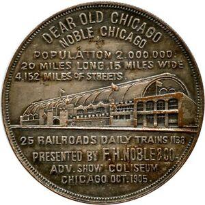 1905 F. H. Noble & Co. Chicago, Illinois IL 25 Railroads 1138 Trains Daily Token