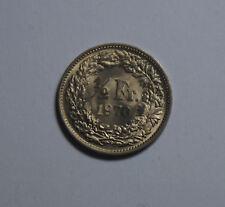 Half FR demi franc 0,5 1/2 suisse switzerland HELVETIA pièce de monnaie 1970 top! (g9)