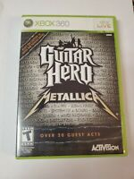 Guitar Hero Metallica XBOX 360 Game Complete & Tested!