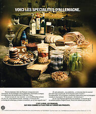 PUBLICITE ADVERTISING 074  1976  LES SPECIALITES D'ALLEMAGNE  fromage charuterie