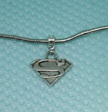 SUPERMAN, SUPER GIRL Sign, Symbol Charm, Bead fits European Bracelets - G47