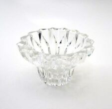 SPARKLING CLEAR CRYSTAL TAPERED CANDLE HOLDER or TEALIGHT HOLDER