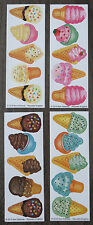 Lot of 20 Scratch and Sniff Scented Stickers Smelly Ice Cream Cones 4 Scents