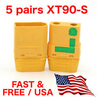 5 pairs Amass XT90-S 90A Anti Spark 4.5mm Connector Plug Upgrade XT90 XT90S