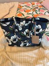 Orla Kiely Navy Blue Passion Flower Tilly Tillie Shoulder Hand Bag