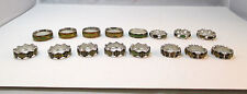 LOT OF 16 MOOD RINGS SILVER TONE COSTUME JEWELRY **