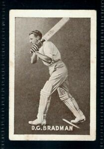 RARE GRIFFITHS BROS. CONFECTIONERY CRICKETERS 1936 DON BRADMAN - AUSTRALIA