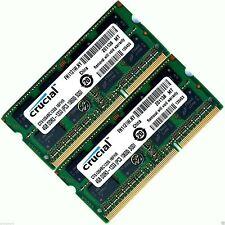 8GB 2x4GB DDR3 1333 MHz PC3-10600 Non-ECC Unbuffered 204 pin Laptop Memory RAM