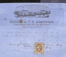 MS3921 1856 GB Yorks HAREPARK MILLS Vignette ILLUSTRATED LETTERSHEET Revenues