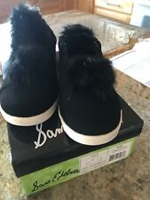 ca6af5e6e8cfeb Sam Edelman girls shoe-Cynthia Leya Fur Pompom Slip-On sneaker