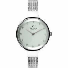 Luxury Flat Stones Number - Obaku Women's Watch Milanese Bracelet Steel