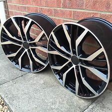 "SET OF 4 X 18"" SANTIAGO GTI GTD STYLE BLACK/POL ALLOY WHEELS VW GOLF MK 5 6 7"