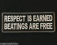 Respect Is Earned Beatings Are Free Usa Army Swat Velcro® Brand Fastener Patch