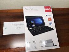 """Laptop Tablet Combo 10"""" 2 in 1 RCA Cambio 32GB Webcam Windows 10 TouchScreen NEW"""