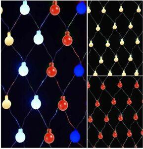 180 LED Berry Net Lights String Fairy Window Curtain Wedding Xmas Gift + TIMER