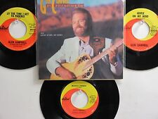 LOT OF 4 ' GLEN CAMPBELL ' HIT 45's+1PS       THE 60's-80's!