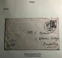 1944 Kohima India FPO 38 Censored Cover To Danjeehig