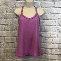 Lorna Jane Purple Heather Racer Back Yoga Fitness Tank Top  **READ**