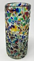 Gorgeous Hand-Blown Color-Infused Tall Shot Glass - LN